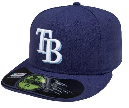 MLB Tampa Bay Rays Game AC On Field 59Fifty Fitted Cap-800 (Bay Tampa Devil Clothes Rays)