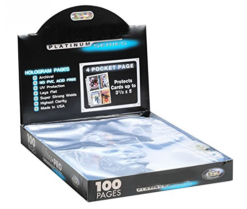 10 Platinum 4-Pocket Trading/Gaming Card Album Pages/Binder Sheets