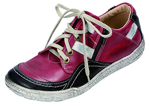 schwarz MICCOS schwarz de bordo cordones mujer bordo rojo para Zapatos rn8A4Yq7r