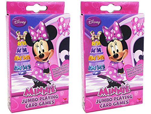 Mouse Playing Mickey Cards (2-Pack Set Disney Minnie Mouse Jumbo Playing Cards)