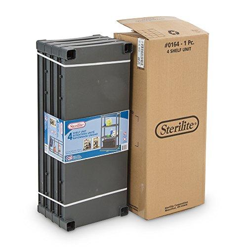 Sterilite 01643v01 4 Shelf Unit Flat Gray Shelves Amp Legs