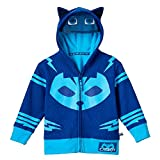 PJ Masks Boys' Toddler Gekko and Catboy Hoodie, Blue, 2T