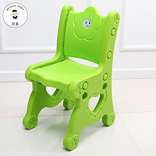 スツールDana Carrie子供椅子ベビーLearnプラスチックテーブルと椅子小さな椅子子供椅子ベビー厚調節可能な、緑4個 B078BDCZJZ