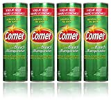 Comet Cleaner with Bleach Powder 25-Ounces | Scratch-Free | (Value Pack of 4-Units)