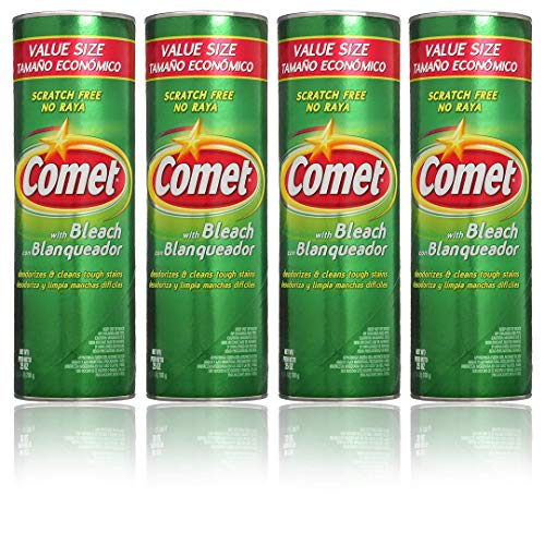 Comet Cleaner with Bleach Powder 25-Ounces | Scratch-Free | (Value Pack of -