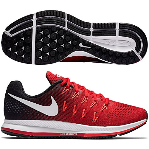 premium selection 22faa 1ee56 Nike Men s Air Zoom Pegasus 33, University Red White Black - 12 D(M) US   Buy Online at Low Prices in India - Amazon.in