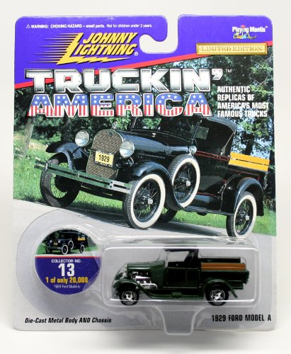 1929 FORD MODEL A * COLLECTOR NO. 13 * Johnny Lightning 1997 TRUCKIN' AMERICA COLLECTION 1:64 Scale Die Cast Vehicle * Limited Edition: 1 of only 20,000 (Gmc Pickup Truck Hot Rod)