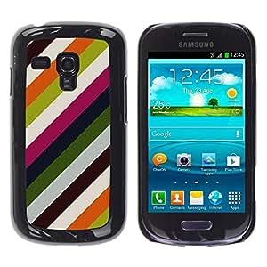 Be Good Phone Accessory // Dura Cáscara cubierta Protectora Caso Carcasa Funda de Protección para Samsung Galaxy S3 MINI NOT REGULAR! I8190 I8190N // Lines Modern Wallpaper Green Whi