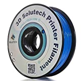3D Printer PLA Filament 1.75MM Filament, Dimensional Accuracy +/- 0.03 mm, 2.2 LBS (1.0KG) - 3D Solutech (Blue)