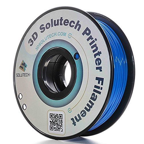 3D Solutech Real Blue 3D Printer PLA Filament 1.75MM Filament, Dimensional Accuracy +/- 0.03 mm, 2.2 LBS (1.0KG) - 100% USA by 3D