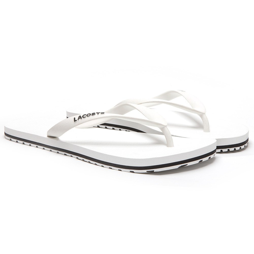 bd57c5b726a5 Lacoste Mens Mens Nosara Jaw Flip Flop in White - UK 10  Amazon.co.uk  Shoes    Bags