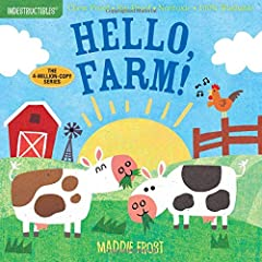 Say hello to farm animals in a book that's indestructible!  Who munches the grass? Hungry cows! Who rolls in the mud? Playful pigs! Who greets the day? Crowing roosters!  Indestructiblesis the trusted series for easing little ones into...