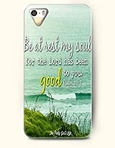 iPhone 5 / 5s Case Be At Rest My Soul For The Lord Has Been Good To You Psalm 116.7 The Pretty Girl'S Life - Bible Verses - Hard Back Plastic Case - OOFIT Authentic