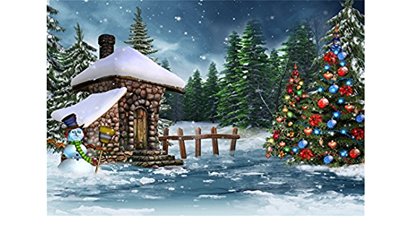 5x5FT Vinyl Photography Backdrop,Winter,Wonderland Xmas Holiday Photoshoot Props Photo Background Studio Prop
