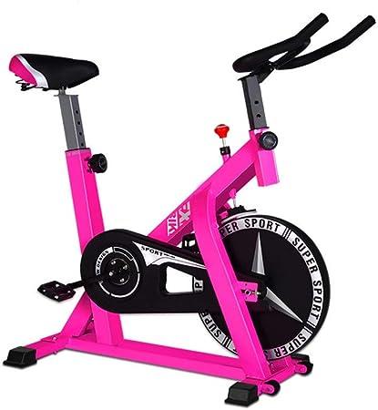 Bicicleta estática de Spinning, ejercicio en interiores, entrenamiento para mantenerse en forma (color: rosa; tamaño: 104 x 58 x 114 cm): Amazon.es: Hogar