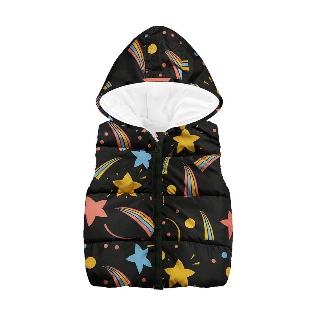 Abbigliamento Bambini,Bambino Ragazze Ragazzi Senza Maniche Stella Stampare Cappuccio Caldo Panciotto Top 11.97
