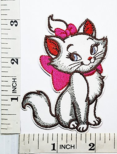 Marie Cat Kitten Kitty Disney patch Symbol Jacket T-shirt Patch Sew Iron on Embroidered Sign Badge ()