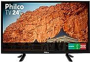 "TV 24"" LED HD PHILCO PTV24C10D Preta B"
