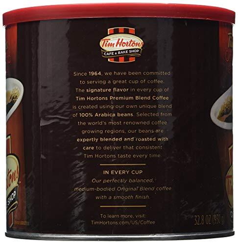 Tim Hortons HBRKMMCX 100% Arabica Medium Roast Original Blend Ground Coffee, 32.8 Ounce, Pack of 2 by Tim Hortons (Image #1)