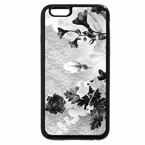 iPhone 6S Plus Case, iPhone 6 Plus Case (Black & White) - Flowers and Lace