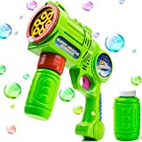 Toysery Bubble Blower Kids Toy Gun - Lightweight Premium Quality Bubble Gun - Thousands of Colored Bubbles in Minutes- Great Outdoor Fun for Kids with Outdoor Bubbles - Easy Refill Bubble Toys for Kid