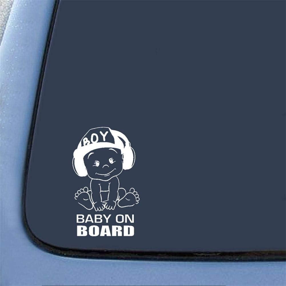 Cassiela Baby ON Board Autoaufkleber,Kreative Mode Schwanz Warnschild Aufkleber,Geeignet F/ür Jedes Auto LKW Oder LKW,12//18//1cm