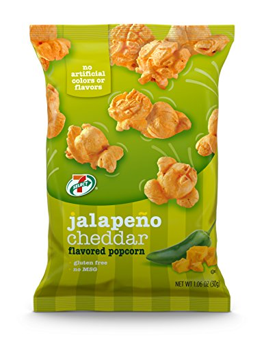 7-Select Jalapeno Cheddar Flavored Popcorn, 1 oz, 6 Pack Bags