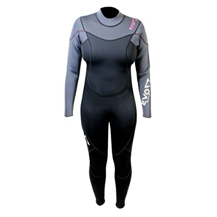 cd3d0e1cac Image Unavailable. Image not available for. Color  EVO Elite 3mm Full Scuba  Wetsuit (Women s) 3 4 Pink