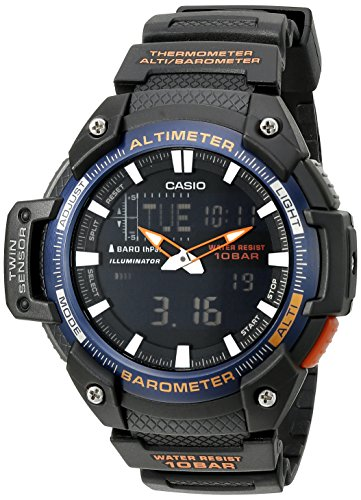 Casio Men's SGW-450H-2BCF Twin Sensor Analog-Digital Black Watch
