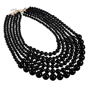 Jerollin moda mujeres declaraci¨®n cadena collar babero elegante collar