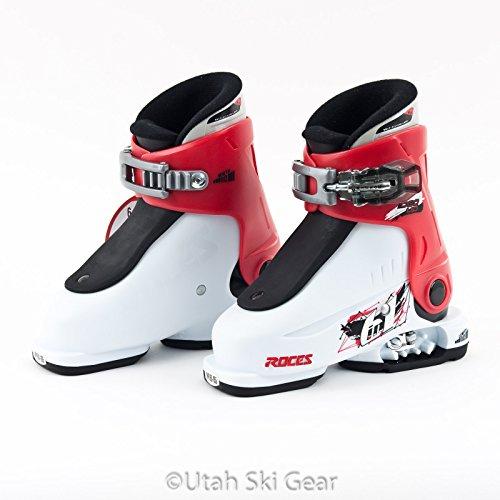 EA Up Adjustable Ski Boots - White Red Black (Adjustable Kids Ski Boots)