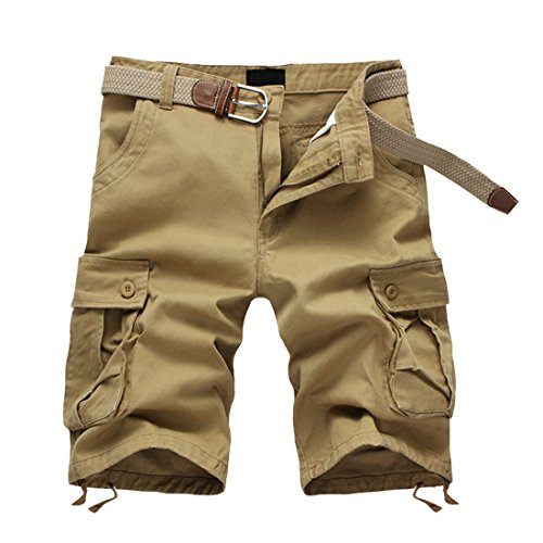 34ef00c273 MAGOTEK Cotton Casual Mens Cargo Shorts Pants Summer Fashion Sports Beach  Travel Pockets Camouflage