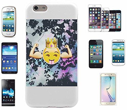 """Smartphone Case Apple IPhone 4/ 4S """"Muskel Emoji Cooles Gesicht Gain Power Fitness """", der wohl schönste Smartphone Schutz aller Zeiten."""