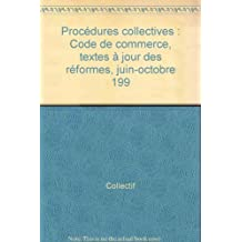 commerce. procedures collectives