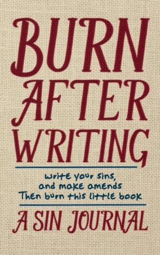 Download Burn After Writing: A Sin Journal ebook