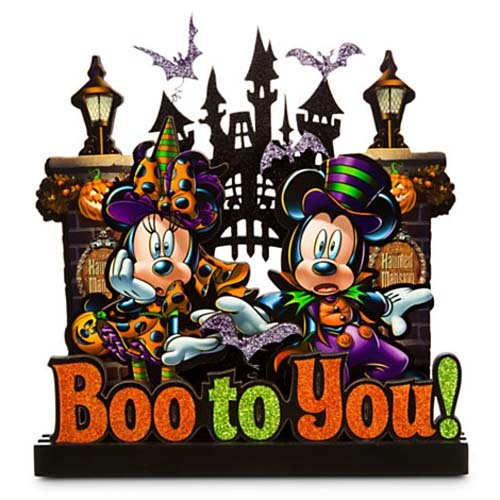 Disney Halloween Sign - Boo to You Mickey and Minnie Mouse
