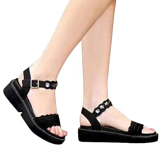 b53fc0bb412c2 Amazon.com: Wedge Sandals Womens Platform Thick Bottom Sandals Shoes ...