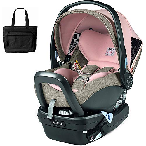 Peg Perego 4/35 Nido Car Seat with Load Leg Base - Mon Amour with Bonus Diaper Bag