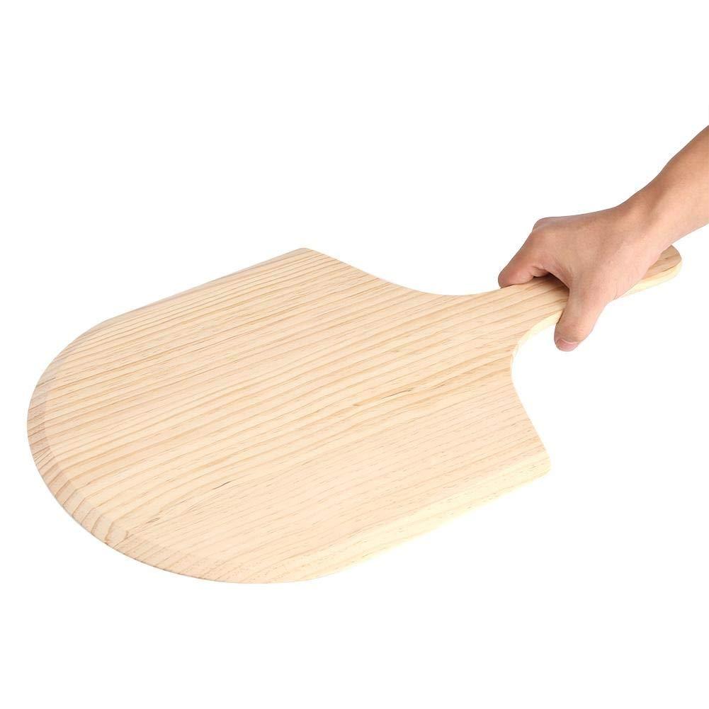 Jadeshay Heritage Wood Pizza Peel,12 14 Wood Pizza Peel Shovel Paddle Pancake Oven Baking Wood Handle Tray