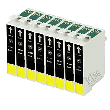 King of Flash Compatible de tinta para impresora Epson T1281 ...