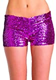 Be Wicked Sequin Booty Shorts (Hot Pink;Small)