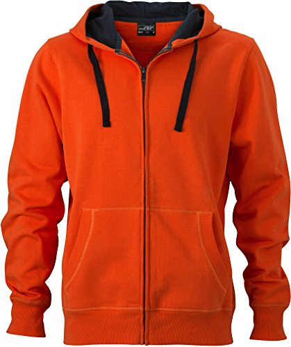 Dark amp; Sweatjacke Hooded Jacket James Uomo Nicholson Felpa carbon Orange Men's 7d6wnFnP