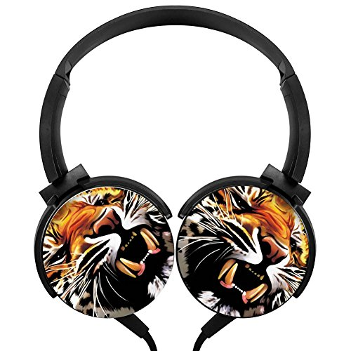 Wild Cool Tiger Stereo Headphone Portable Headphones Wired Headset
