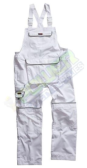 39d76c6f8b3 Blackrock Decorators Bib   Brace Dungaress White Workwear (Small 32 quot   ...
