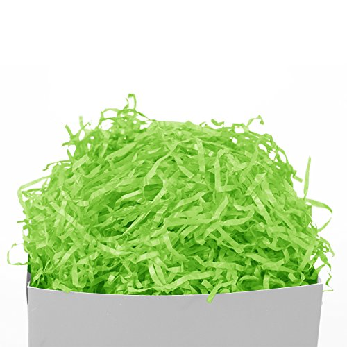 GIFT EXPRESSIONS Lime Green Paper Shred for Gift Package filler and kraft, Cut Paper Filler for Gift Wrapping & Basket Filling, Perfect for Stuffing Gift Bags (Lime Green)