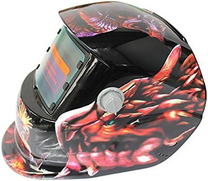SSXY Casco de soldadura solar Máscara de atenuación automática Máscara de soldadura fotoeléctrica Equipo de protección - Dinosaurio