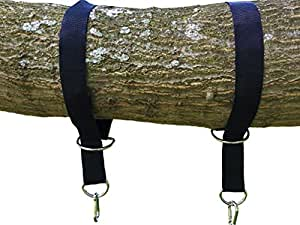 The Tree Swing Hanging Kit Holds 1200lbs, Easy & Fast Swing Hanger Installation to Tree- 2 Strap & Snap Carabiner Hook, Perfect For Swings, Hammocks & Anything Else - 100% Weather/Waterproof