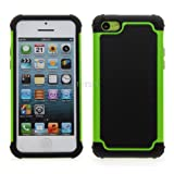 iPhone 5C Hard Armor High Impact Shock Proof Dual Layer Case Cover by theMobileArea - Green