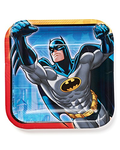 American Greetings Batman Party Supplies Disposable Paper Dessert Plates, 8-Count]()