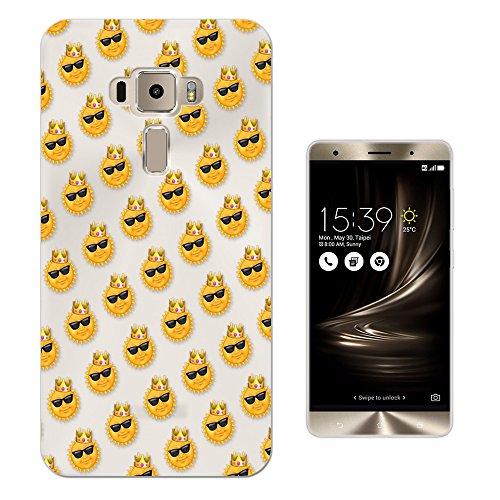 c01411 - Emoji Sun Crown Sunglasses Design Asus Zenfone 3 Deluxe 5.5